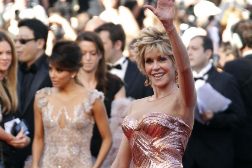 "Actress Jane Fonda arrives on the red carpet for the screening of the film ""Moonrise Kingdom"", by director Wes Anderson, in competition at the 65th Cannes Film Festival May 16, 2012."