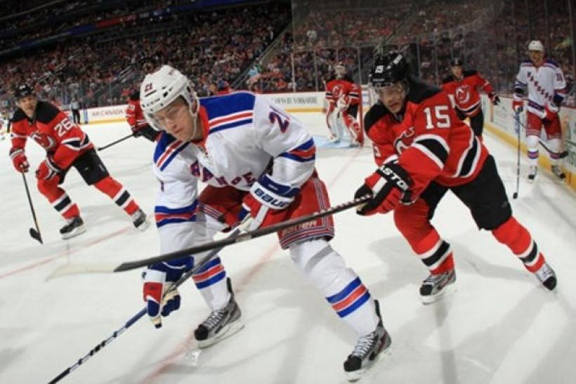 The Rangers take on the Devils at 8 p.m. ET.