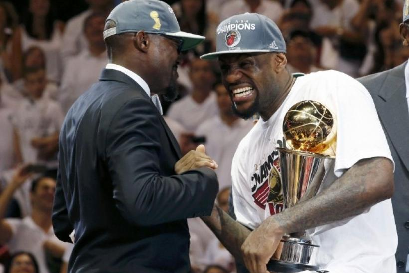 LeBron James was named the 2012 NBA Finals MVP.