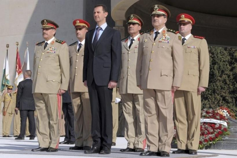 Assad With Leading Syrian Officers