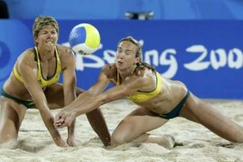 Natalie Cook (left) is an openly gay australian Olympian