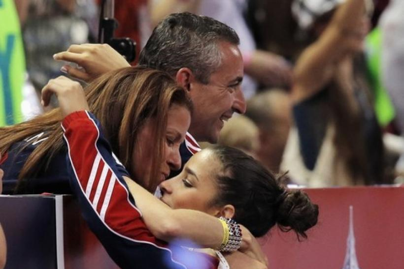 Lynn and Rick Raisman cheer on Aly Raisman
