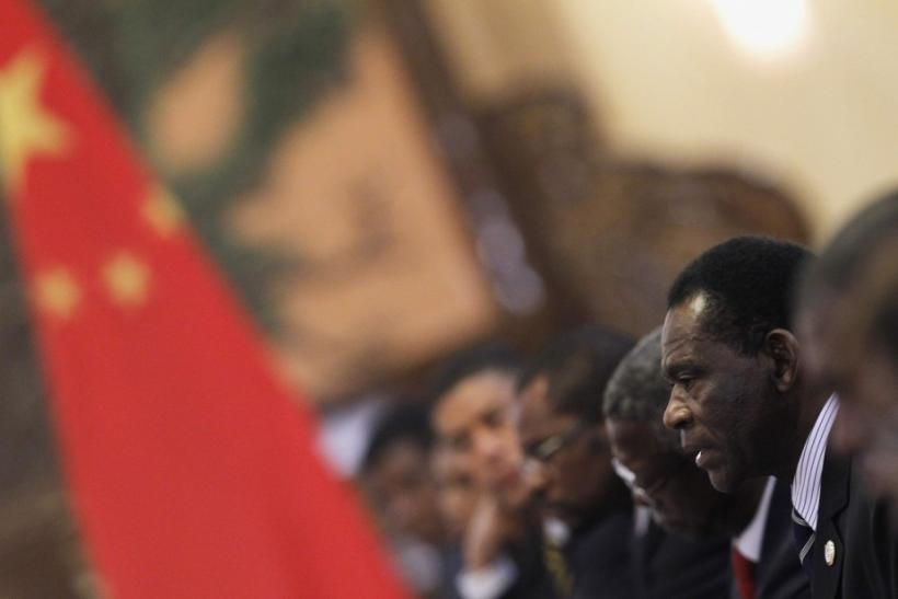 Equatorial Guinea's President Obiang attends meeting with Chinese President Hu