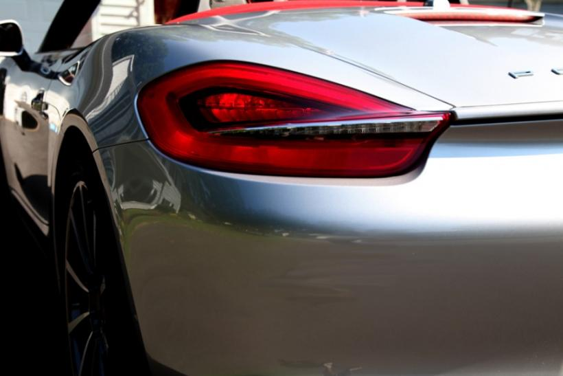 The tail of the 2013 Porsche Boxster S.