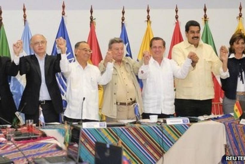 South American leaders at Unasur
