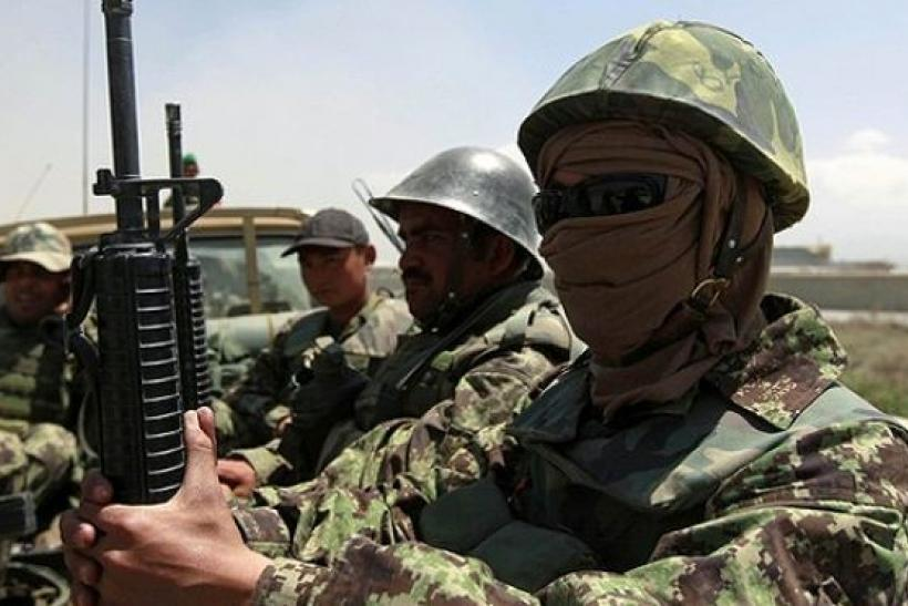 Afghan troops in Afghanistan