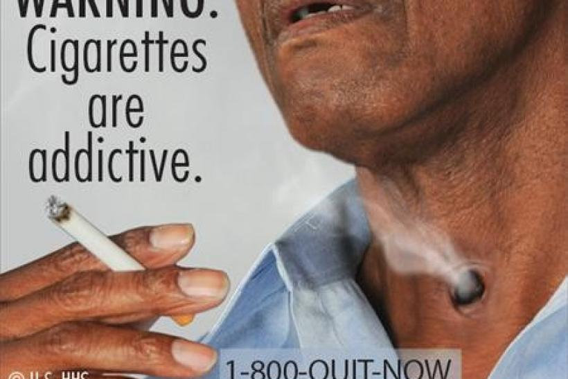 A new cigarette health warning from the FDA.