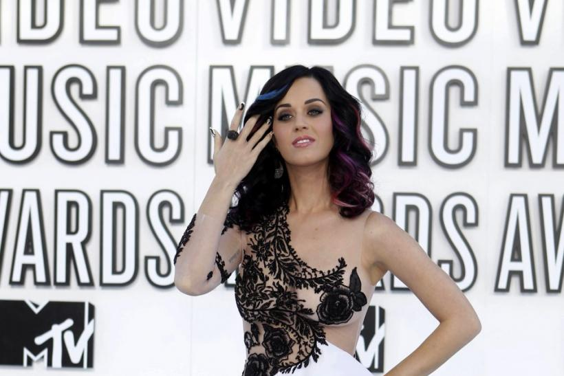 Katy Perry poses at the 2010 MTV Video Music Awards in Los Angeles