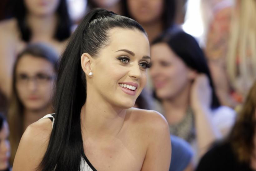 U.S. singer Katy Perry smiles during an interview for the television show 'etalk' in Toronto