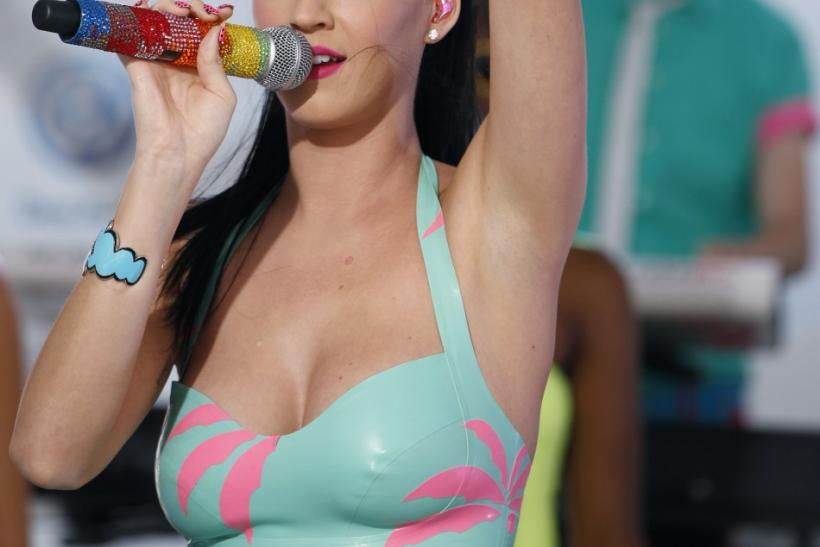 Katy Perry performs during the Volkswagen launch of the new 2011 Jetta in New York
