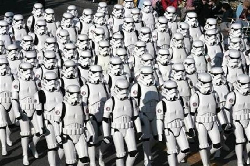 "Close to 200 participants from the fan-based ""501st Legion"""