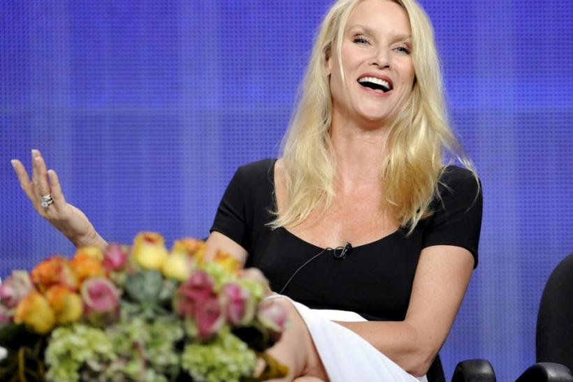 "Actress Nicollette Sheridan from the television show ""Honeymoon for One"" take part in a panel discussion during the Hallmark Channel portion of the Press Tour for the Television Critics Association in Beverly Hills, California"