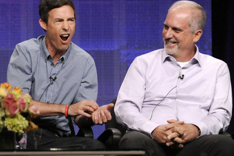 Actor Tom Cavanagh (L) and director Michael Scott