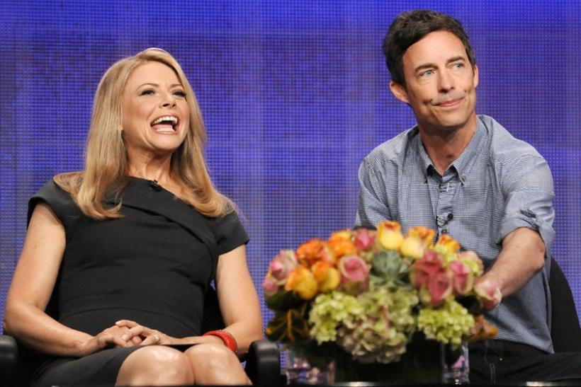 Actress Faith Ford (L) and actor Tom Cavanagh