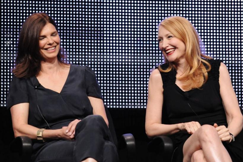 Actresses Jeanne Tripplehorn (L) and Patricia Clarkson