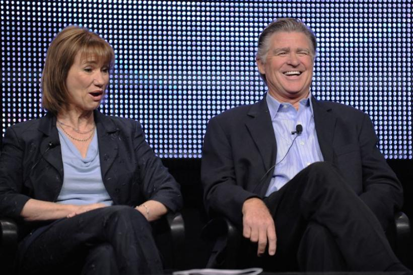Actors Kathy Baker (L) and Treat Williams