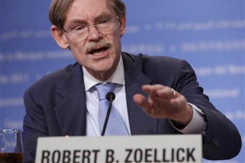 World Bank President Zoellick speaks at a news conference