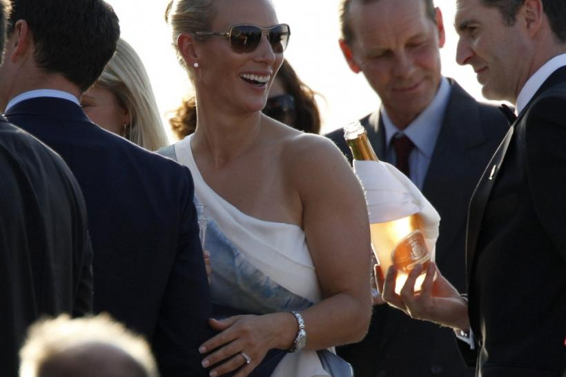 Britain's Zara Phillips, the eldest granddaughter of Queen Elizabeth, is seen at a drinks reception onboard the Royal Yacht Britannia on the eve of her wedding to England rugby captain Mike Tindall at Canongate Kirk, in Edinburgh, Scotland