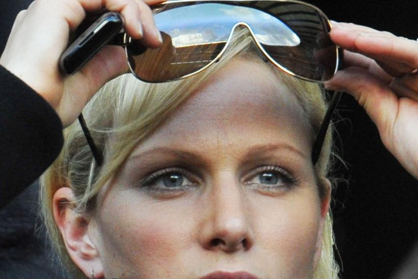 Britain's Zara Phillips watches England play Italy in their Six Nations rugby union match at Twickenham in west London