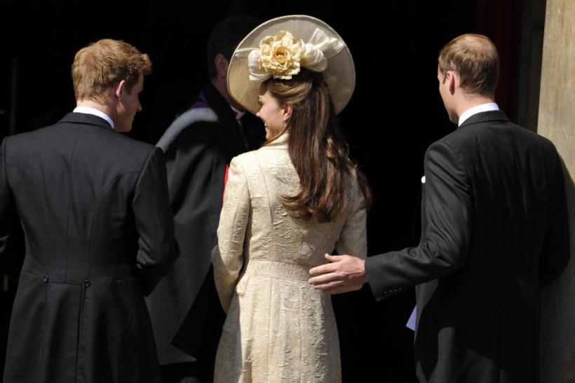 Prince Harry, Catherine, Duchess of Cambridge, and Prince William
