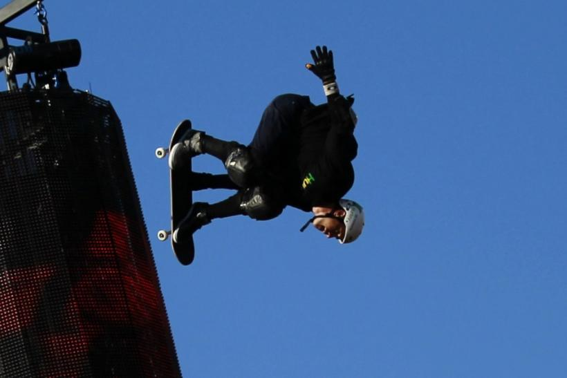 Bob Burnquist of Brazil competes on his way to winning the Skateboard Big Air Final at X Games 17 in Los Angeles