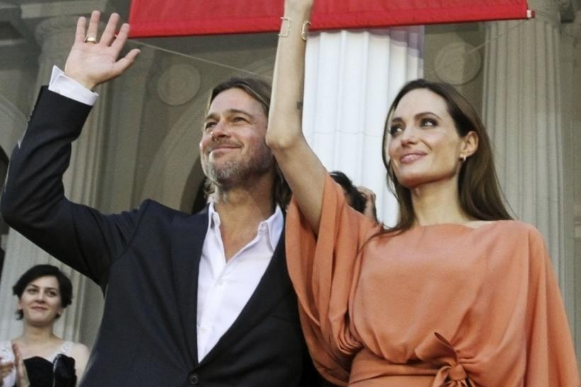 Angelina Jolie and Brad Pitt arrive on red carpet during final night of 17th Sarajevo film festival
