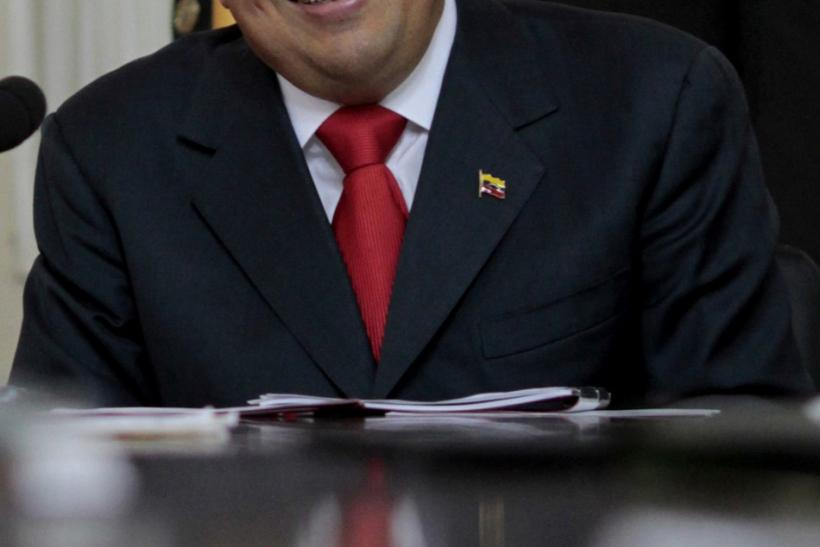 Venezuelan President Hugo Chavez appears with new hair cut due to his cancer treatment in Caracas