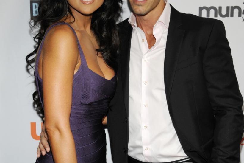 Nadia Bjorlin (L) and Brandon Beemer attend the NBC Universal Press Tour All-Star Party in Beverly Hills, California