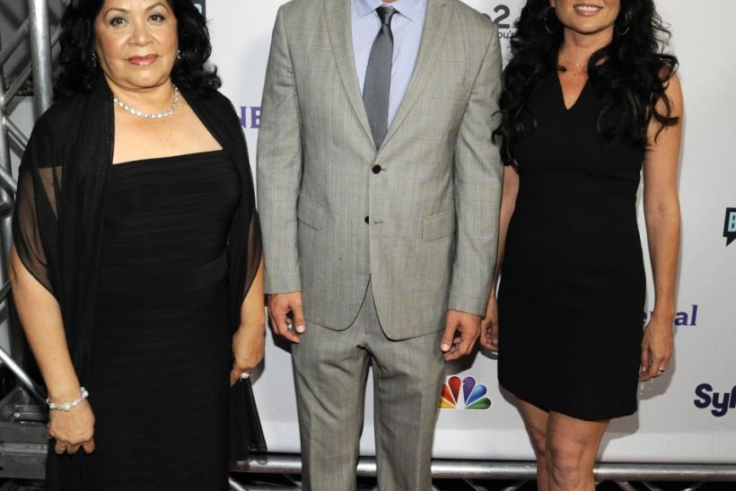 (L-R) Zoila Chavez, Jeff Lewis and Jenni Pulos attend the NBC Universal Press Tour All-Star Party in Beverly Hills, California
