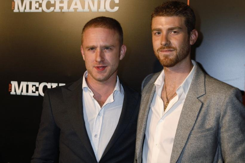 "Actors and brothers Ben and Jon Foster arrive at the premiere of the film ""The Mechanic"" in Hollywood"