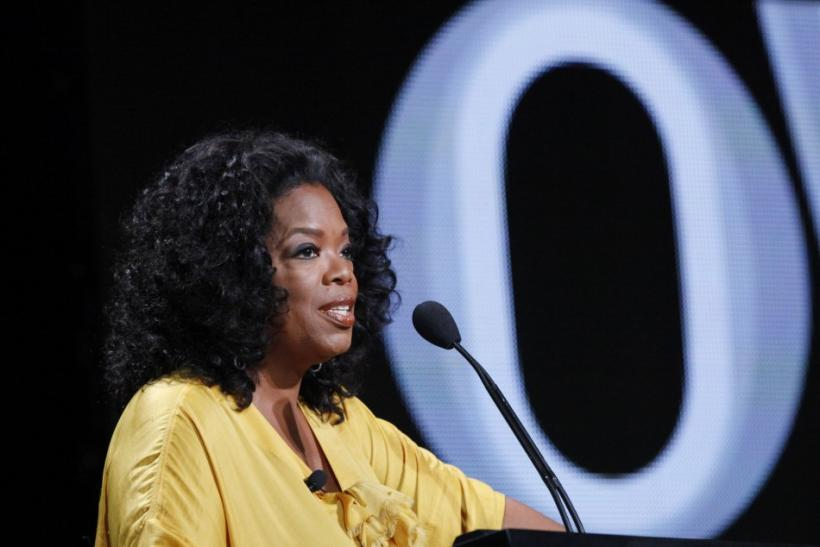 Winfrey speaks during the OWN session at the 2011 Summer Television Critics Association Cable Press Tour in Beverly Hills