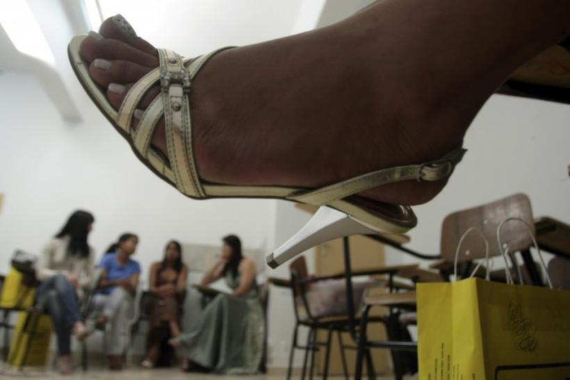 Inmates of the Women's Prison of Brasilia prepare for the third annual beauty pageant titled Miss Penitentiary, in Brasilia