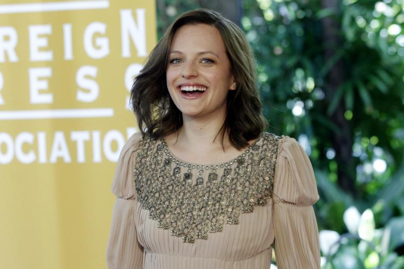Actress Elizabeth Moss arrives for the Hollywood Foreign Press Association annual installation luncheon in Beverly Hills, California