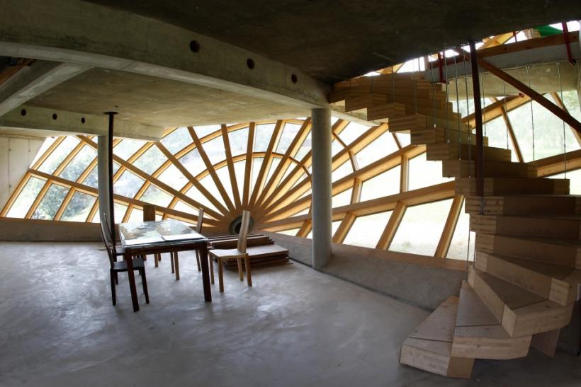 An interior view of a room inside of the Heliodome, a bioclimatic solar house, is pictured in Cosswiller in the Alsacian countryside near Strasbourg, Eastern France
