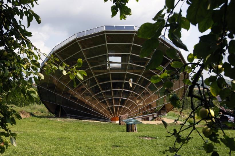 The Heliodome, a bioclimatic solar house is seen in Cosswiller in the Alsacian countryside near Strasbourg, Eastern France