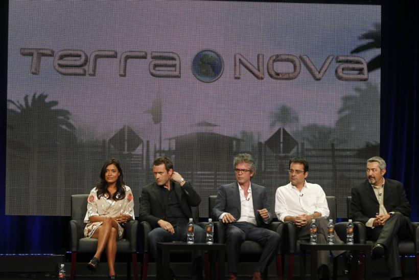 """Cast and producers of """"Terra Nova"""" at the FOX Summer TCA Press Tour in Beverly Hills"""