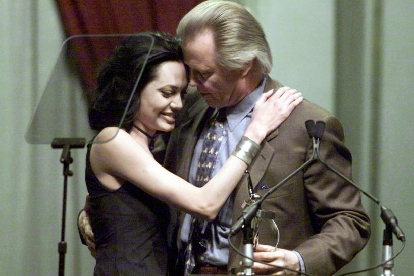 Angelina Jolie with father, Jon Voight