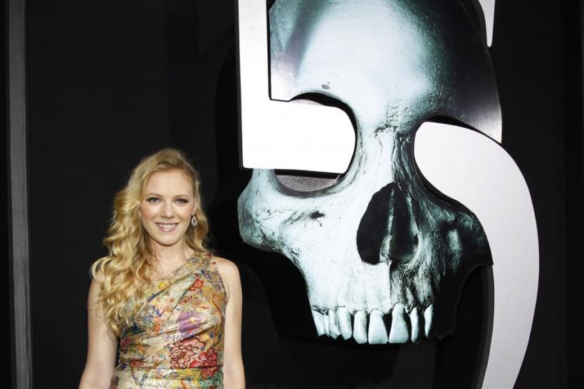 "Cast member Emma Bell poses at the premiere of ""Final Destination 5"" at the Grauman's Chinese theatre in Hollywood, California"