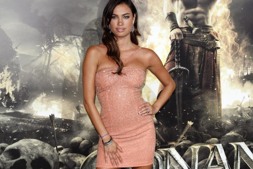 "Cast member Alina Puscau arrives at the film premiere of ""Conan the Barbarian"" in Los Angeles, California"