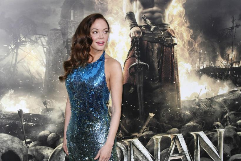 "Cast member Rose McGowan arrives at the film premiere of ""Conan the Barbarian"" in Los Angeles, California"