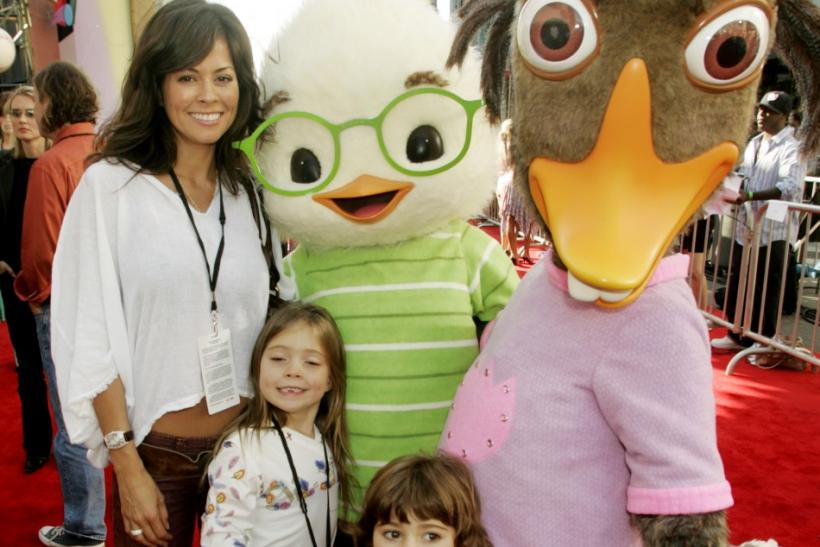 Actress Brooke Burke and daughters at premiere of 'Chicken Little' in Hollywood