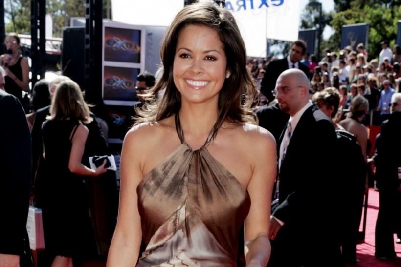 Actress Brooke Burke arrives at the 56th annual Primetime Emmy Awards in Los Angeles