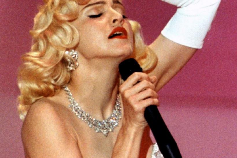 "Madonna performs Best Original Song nominee ""Sooner or Later"" from ""Dick Tracy"" at Academy Awards on March 25, 1991"