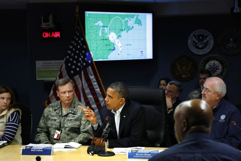Barack Obama At FEMA HQ