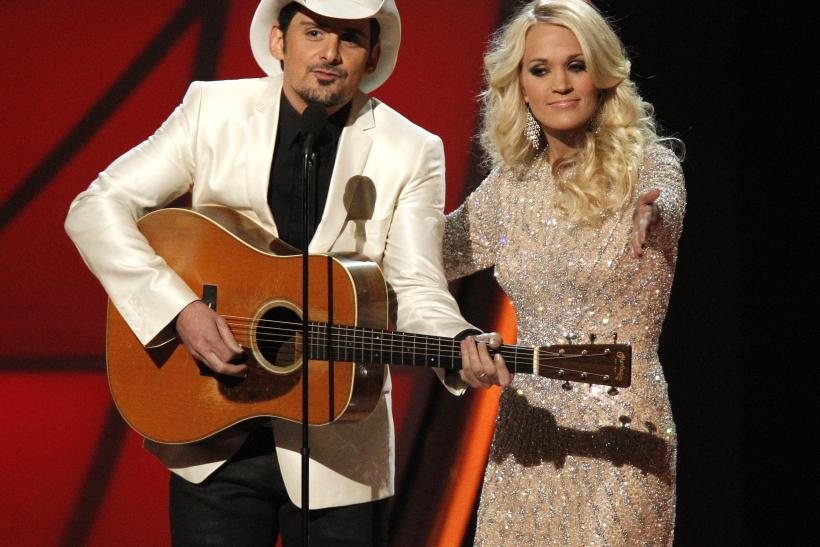 Hosts Brad Paisley and Carrie Underwood