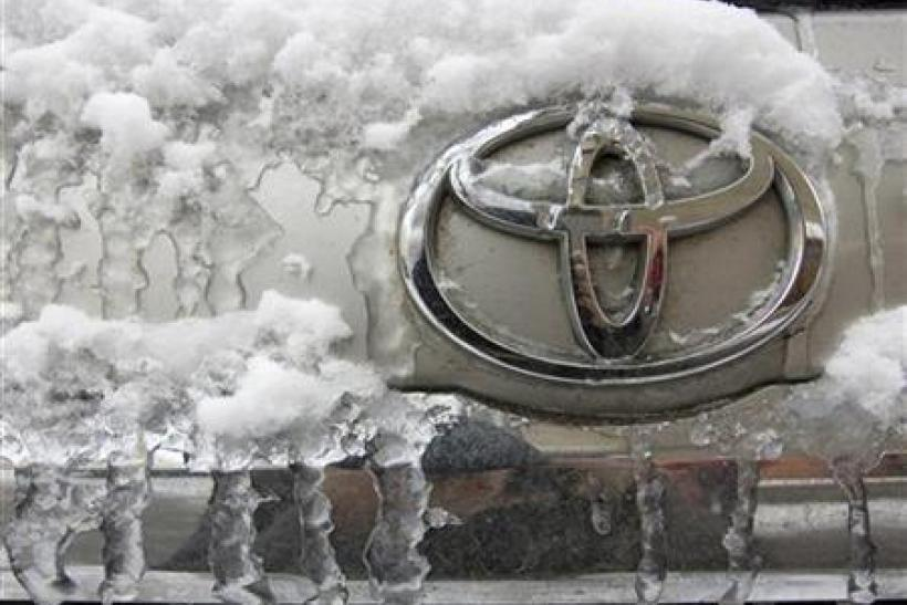 Toyota on ice in Khazak dealership (from 2010)