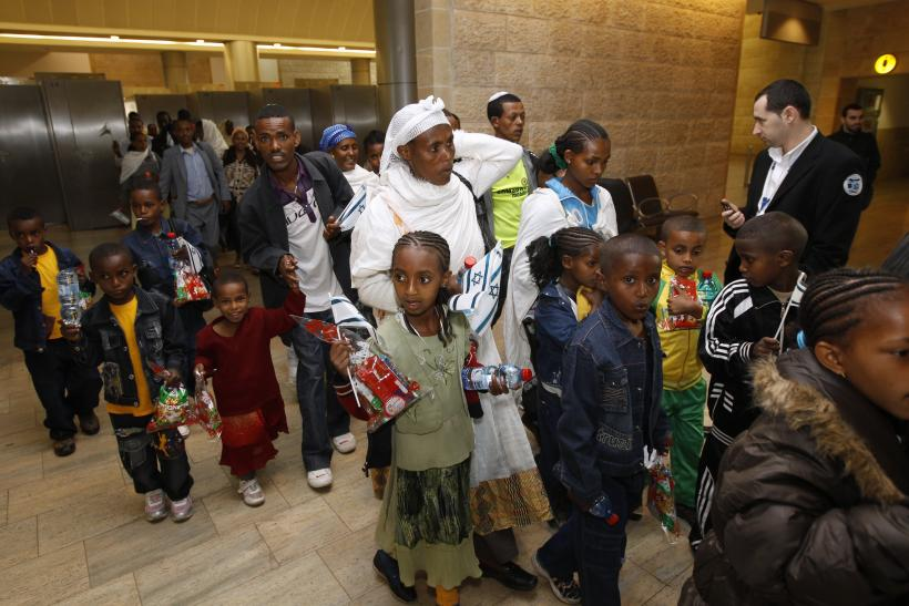 Ethiopian Jews arriving in Israel