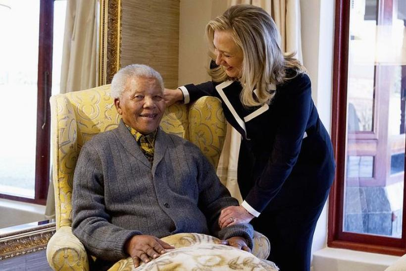 Clinton and Mandela, August 6, 2012