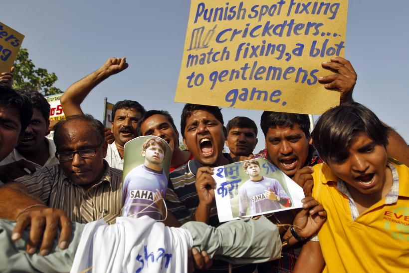 Spot-Fixing Protest