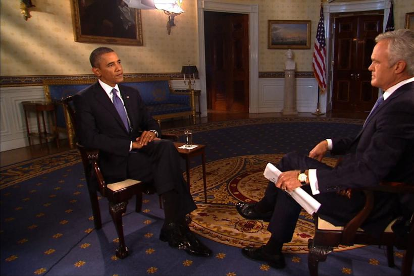 Obama Scott Pelley interview 9/9/13